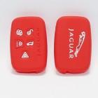 Чехол силиконовый (Красный) для ключа Jaguar XF,XJ,XK