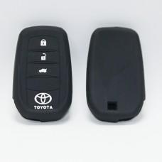 Чехол силиконовый для ключа Toyota RAV-4, Camry 50 (3 кнопки,Черный)