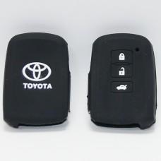 Чехол силиконовый для ключа Toyota (3 кнопки,Черный)