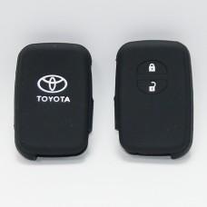 Чехол силиконовый для ключа Toyota (2 кнопки,Черный)