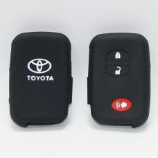 Чехол силиконовый для ключа Toyota KMR-4 (3 кнопки,Черный)