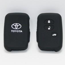Чехол силиконовый для ключа Toyota KMR-5 (3 кнопки,Черный)