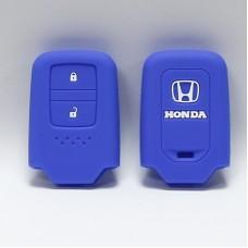 Чехол силиконовый для ключа Honda (2 кнопки,Синий)
