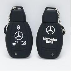 Чехол силиконовый для ключа Mercedes ABCES,C200,GLK,CLK,E260LS350,ML350 (3 кнопки,Черный)