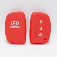 Чехол силиконовый для ключа Hyundai IX35-ZN (3 кнопки,Красный)