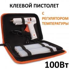 Клеевой пистолет Mytec 100Вт с регулятором MC08008 +20 клеевых стержней
