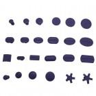 Грибки клеевые фиолетовые (24ШТ) набор сменных насадок PDR